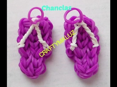 Tutoriales:♥: Chanclas de gomitas (con telar) Flip Flops Charm