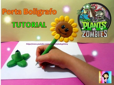 Boligrafo Decorado Plants Vs Zombies porcelana fria TUTORIAL FACIL!!