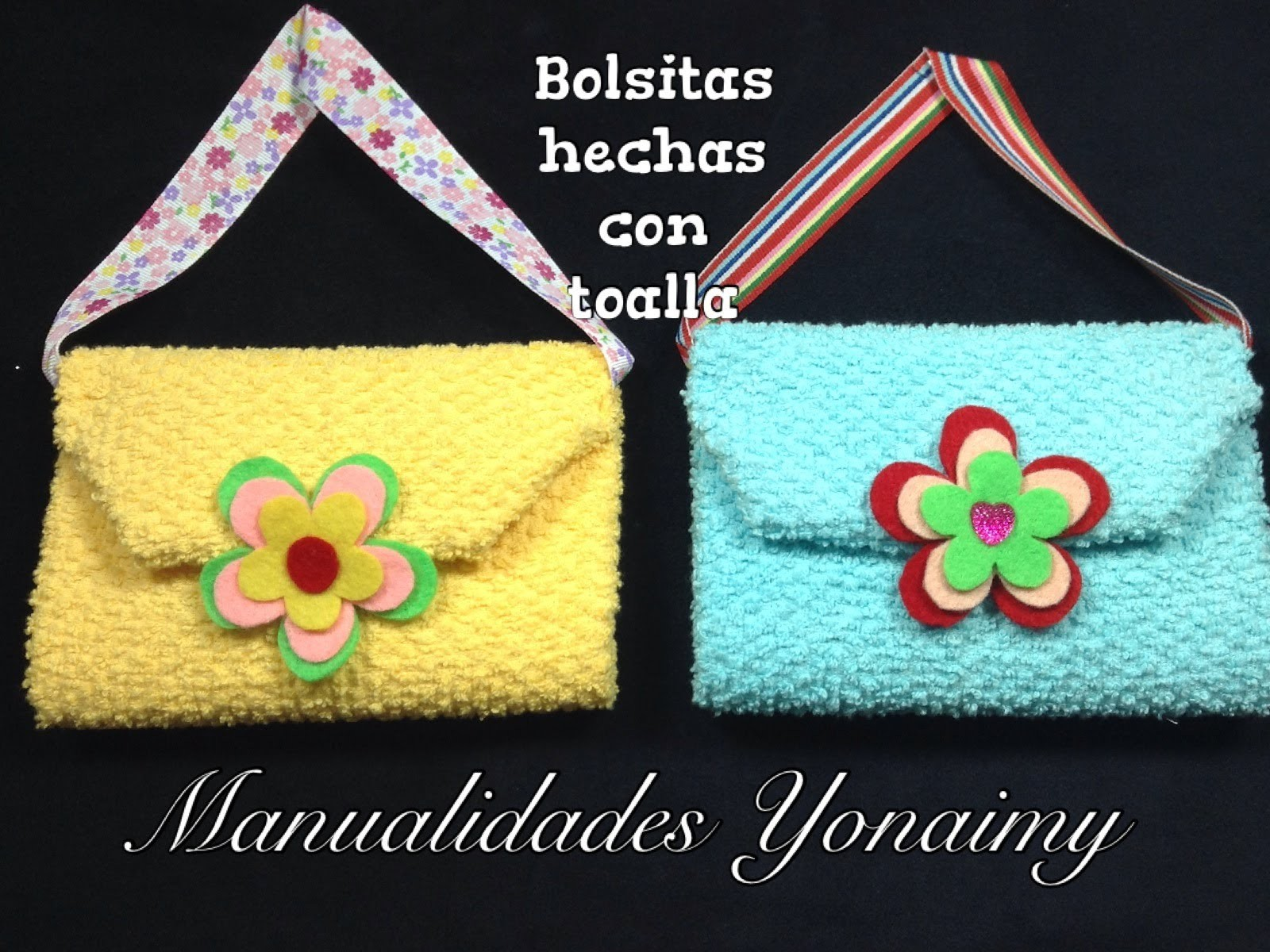 BOLSITA HECHA CON UNA TOALLITA FACIAL .- WASHCLOTH  PURSE.