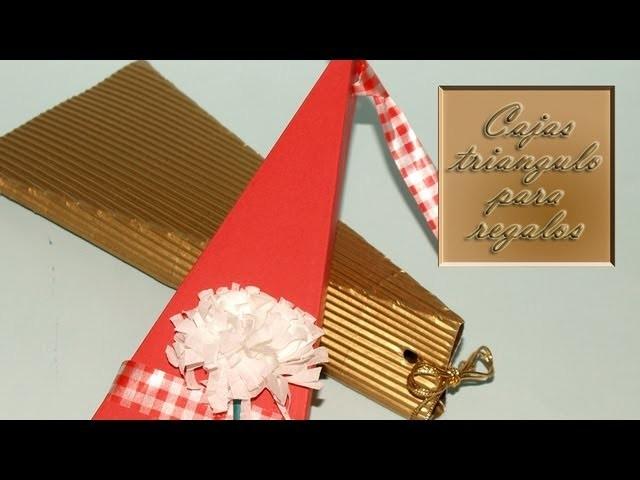 Cajas Triangulares para Regalo - DIY - Triangular Present Box