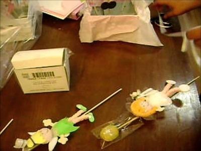 Centro de mesa de pooh con brochetas