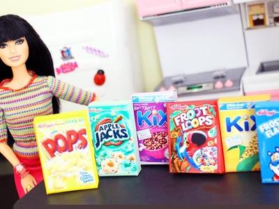 Cómo hacer cajas de cereales para tus muñecas - Manualidades para muñecas