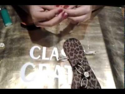 Como hacer huaraches de cristal