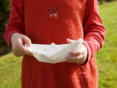 Cómo hacer un móvil de barcos de papel