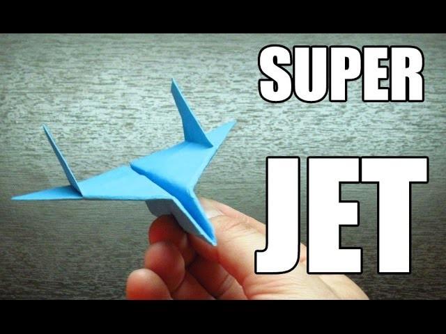 Como hacer un SUPER JET con TURBOS | Aviones de papel paso a paso (Muy facil)