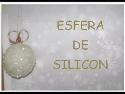 Como HACER una ESFERA de SILICON. para SU árbol DE navidad