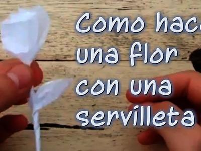 Como hacer una flor con una servilleta
