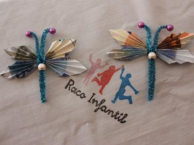 Cómo hacer una mariposa con billetes para regalo
