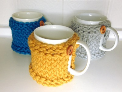 Cómo tejer una funda posavasos para tazas en telar (Tutorial DIY)