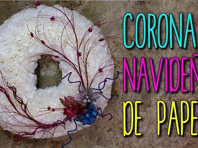 Corona Navideña con Material Reciclado - Manualidades para Navidad - DIY original