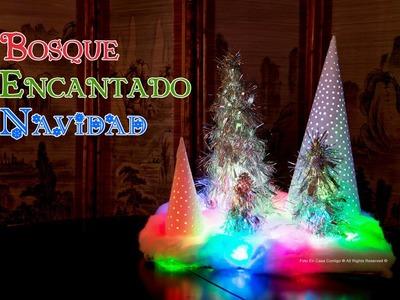 Decoracion Bosque Encantado con Luces de Navidad