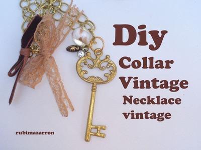 Diy . Collar Vintage