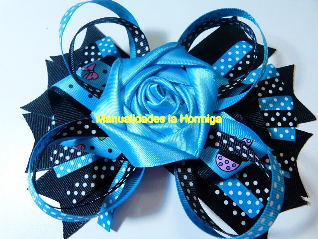 DIY. flores hermosas para decorar lazos del cabello paso a paso.  Flores cinta raso