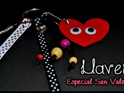 DIY. HTM : Como hacer un Llavero secillo  ♥ San Valentín ♥