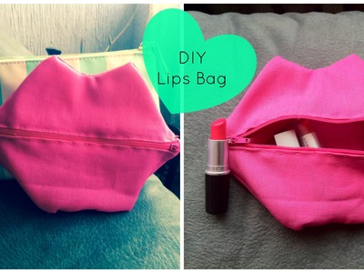 DIY Lip bag.cosmetiquera