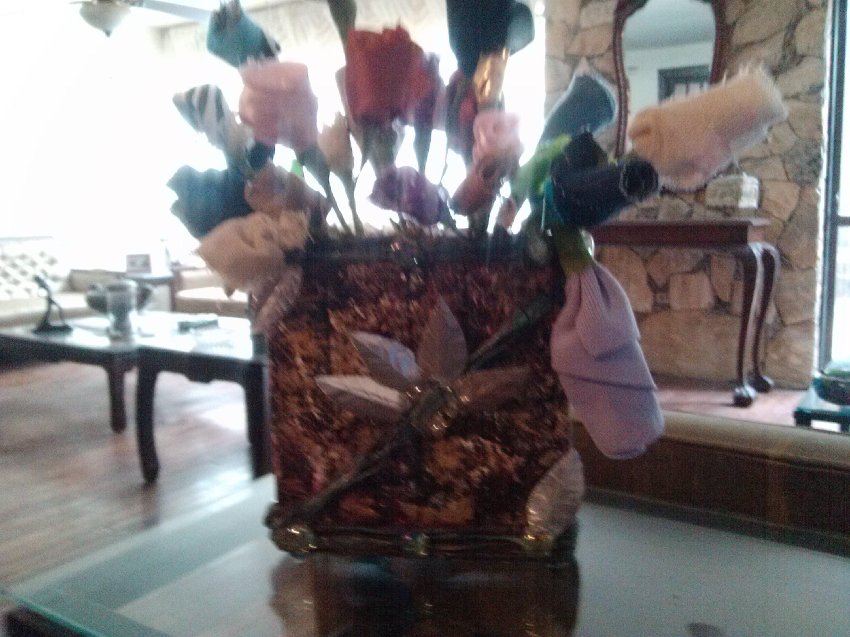 DIY Reciclando Tetra Pak. Flower vase out of tetra pak