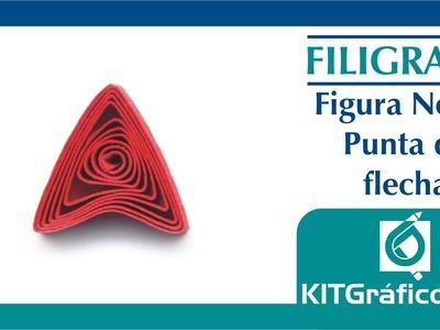 Filigrana (Quilling) figura básica No.12 - Punta de flecha - kitgrafico.com