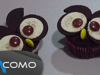 Hacer Búhos de Oreo para Halloween - Oreo Owl