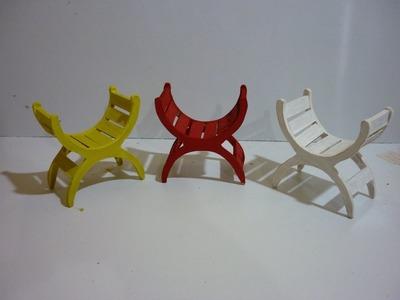Hacer sillas curvas para tus muñecas