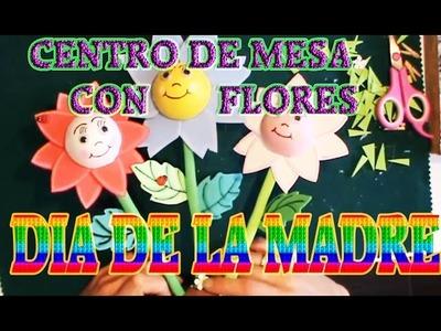 Manualidades Gomaeva | Centro De Mesa Con Flores Para El Dia De La Madre