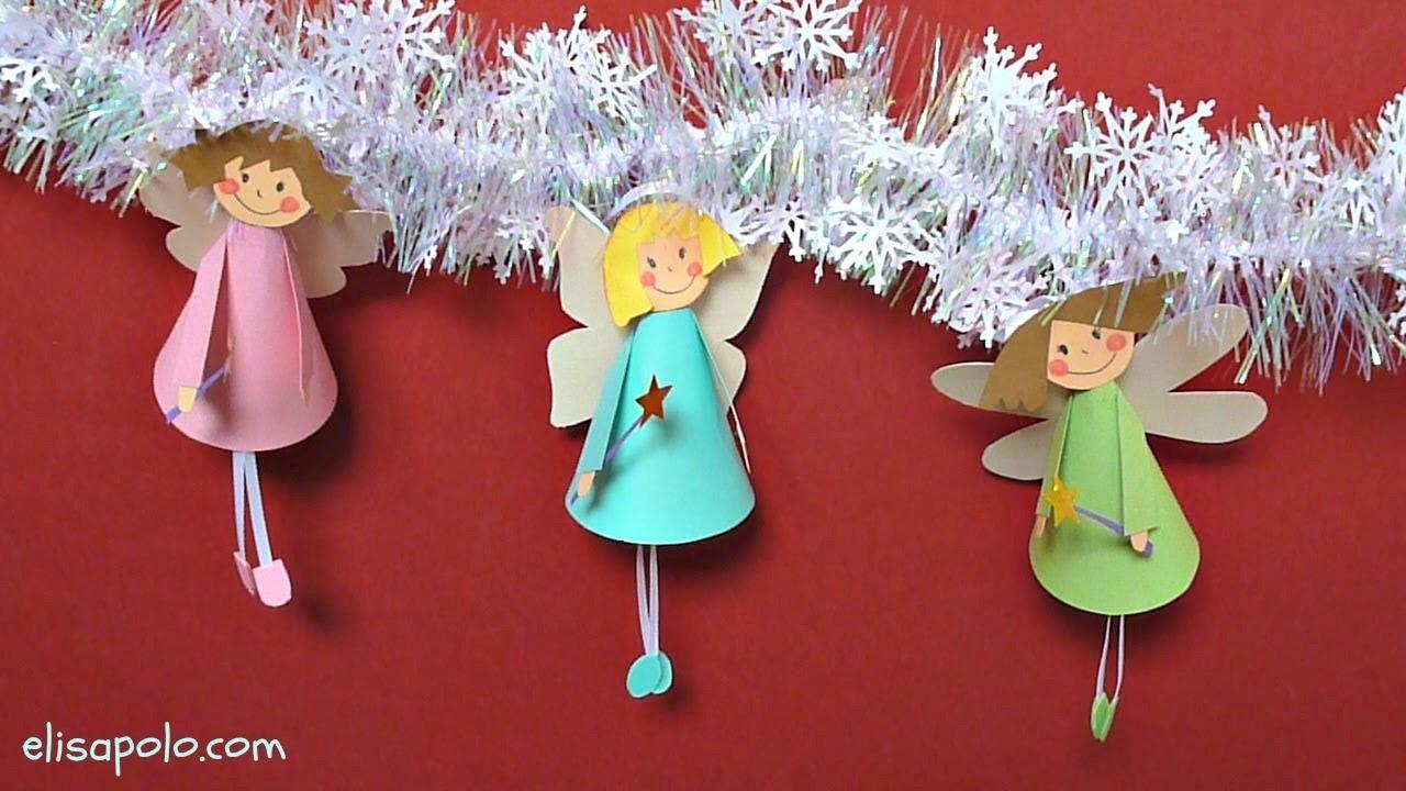 Manualidades para Navidad, Hadas para el Árbol de Navidad, Fairy Christmas Tree Ornaments