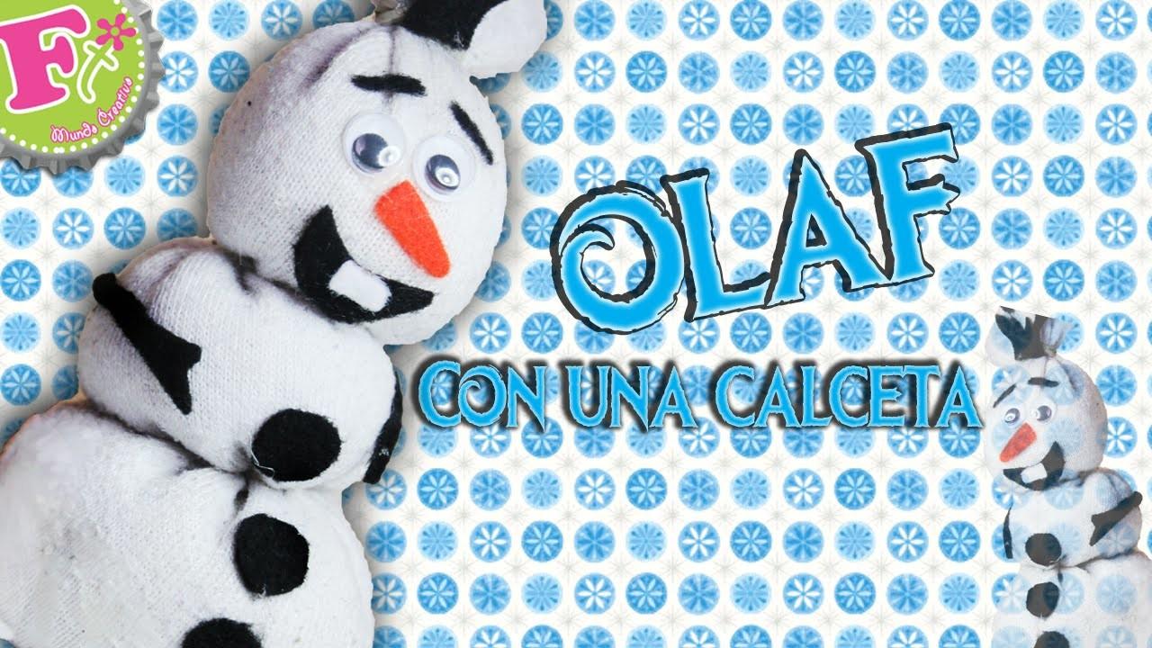 OLAF de FROZEN hecho con una Calceta! (como se hace)