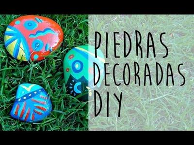 ♣ Piedras decoradas con dibujos étnicos | Manualidades DIY