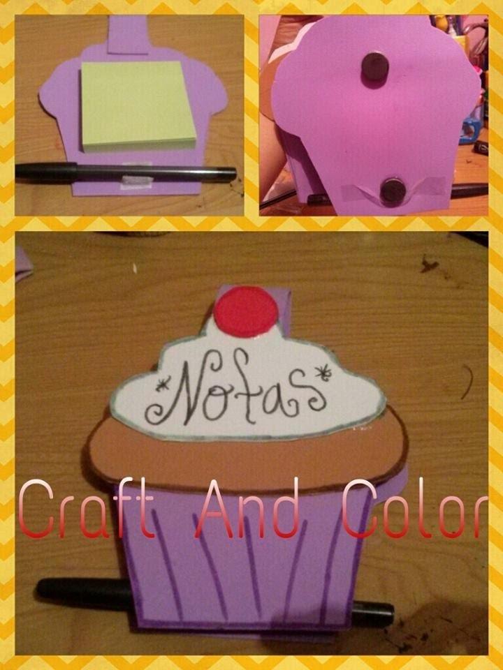 Porta-Notas Cup Cake con Imán. Colaboración con Make It Happen