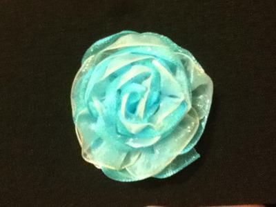 Rosas de listón fácil para juegos de baños,mochilas, roses ribbons