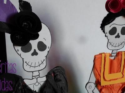 Calaveritas Vestidas [Frida Kahlo] || Entre Calabazas y Catrinas || (Halloween & Día de muertos)