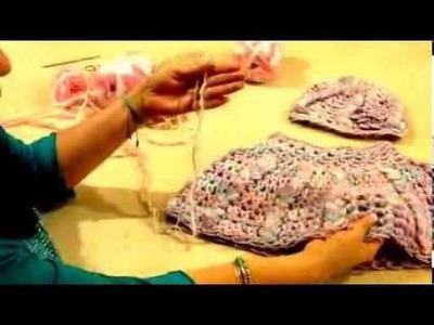 Capita de trenzas para niña - Tejido con dedos - Tejiendo con Laura Cepeda