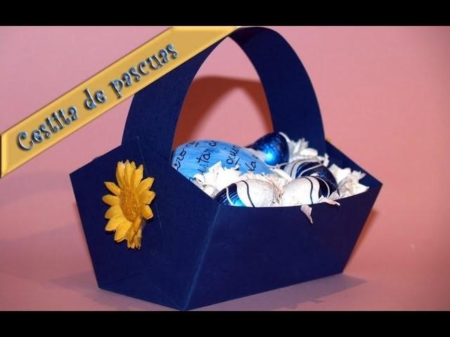 Cesta de Huevos con Mensaje - DIY - Basket of Eggs with Message