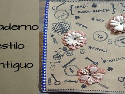 Como adornar un cuaderno estilo antiguo