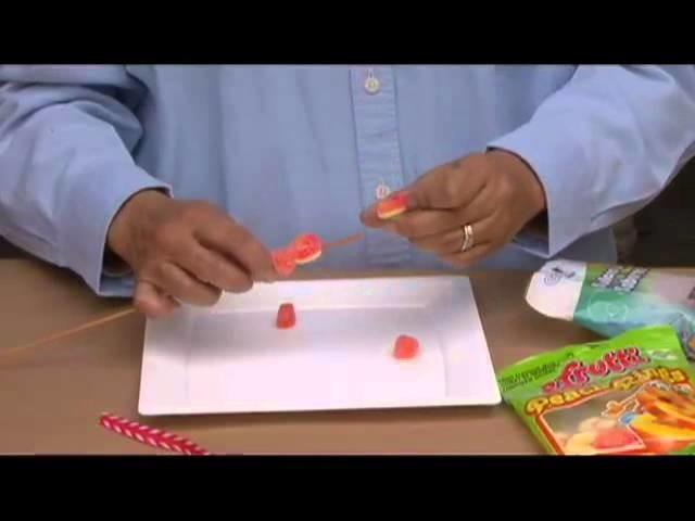 Cómo hacer banderillas con gomitas