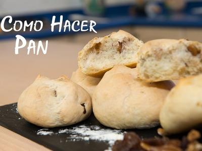 Como Hacer Pan Normal, Pan de Cebolla y Pan de Nueces con Pasas