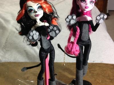 Como hacer un disfraz de gatita para tus muñecas.