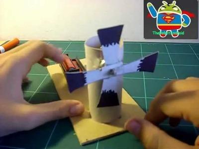 Como hacer un molino - ventilador eléctrico rápido y sencillo - El Rincón De Las Manualidades