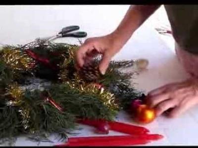 Cómo hacer una corona de adviento . Making an advent wreathras