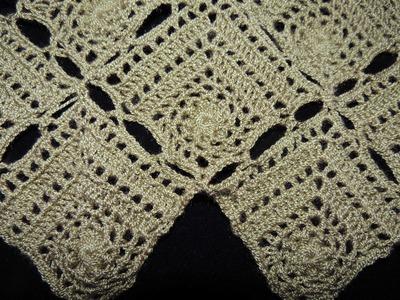 Crochet : Motivo #5. Cuadrado. Uniones