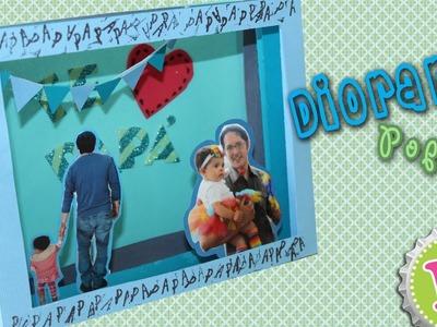 Diorama-tarjeta-marco de Fotos PopUp para Papá