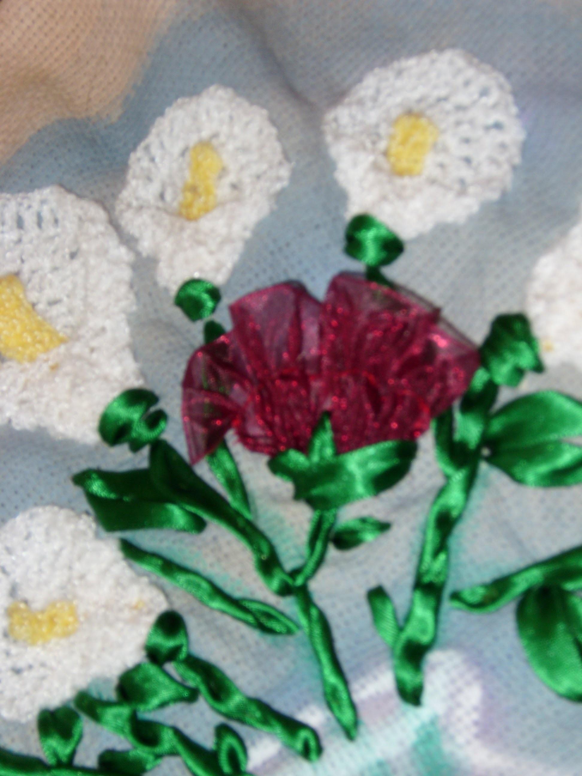 DIY Cómo hacer un clavel sencillo, flor armada en listón.