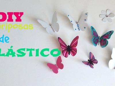 DIY:Mariposas de plástico