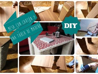 DIY: Mesa de cartón y madera