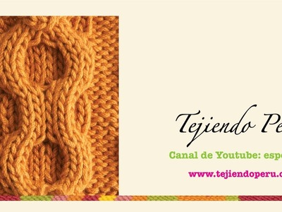 Dos agujas: trenza (ocho) en doble relieve