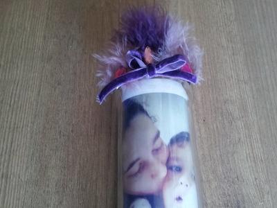 Envase de cristal decorado con foto DIY | facilisimo.com