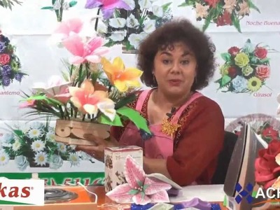 Lilis Moldes de Flores para hacer Arreglos Florales en Fomi, Goma EVA HD