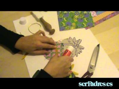 Manualidades: bolas de Navidad de papel