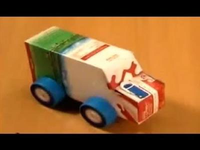 Manualidades | Como hacer un coche con reciclaje
