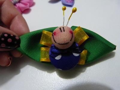 Mariposas miniatura elaboradas con botones. bows with butterfly hair