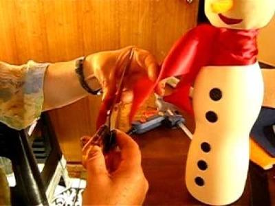 Muñecos de Nieve Navideños reciclado